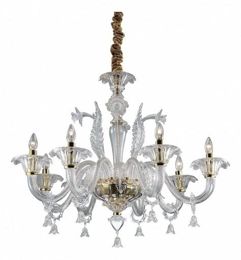 Подвесная люстра Odeon Light Dita 2795/8, 8xE14x40W, золото, прозрачный, металл, стекло - фото 1
