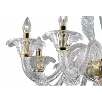 Подвесная люстра Odeon Light Dita 2795/8, 8xE14x40W, золото, прозрачный, металл, стекло - миниатюра 2