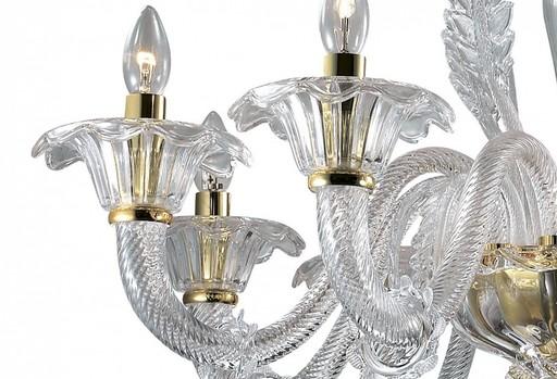 Подвесная люстра Odeon Light Dita 2795/8, 8xE14x40W, золото, прозрачный, металл, стекло - фото 2