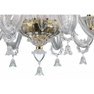 Подвесная люстра Odeon Light Dita 2795/8, 8xE14x40W, золото, прозрачный, металл, стекло - миниатюра 4
