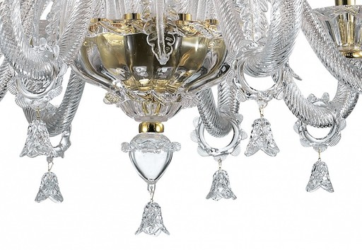 Подвесная люстра Odeon Light Dita 2795/8, 8xE14x40W, золото, прозрачный, металл, стекло - фото 4