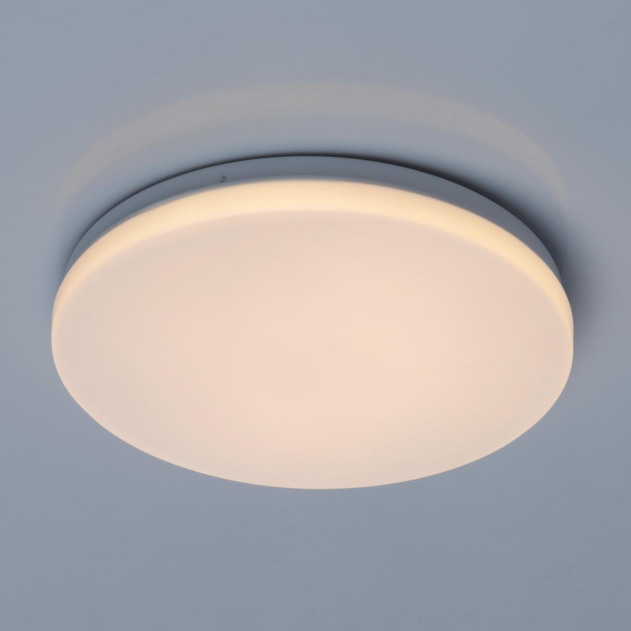 Потолочный светодиодный светильник De Markt Ривз 674017401, LED 14W 3000K (теплый), белый, металл, пластик - фото 1