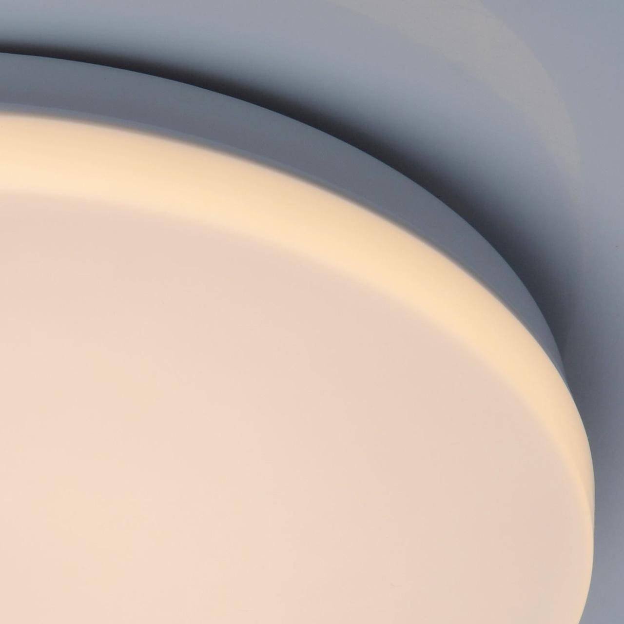 Потолочный светодиодный светильник De Markt Ривз 674017401, LED 14W 3000K (теплый), белый, металл, пластик - фото 5