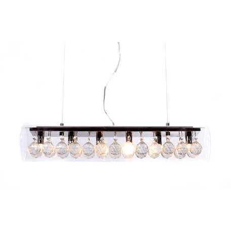 Подвесной светильник Lumina Deco Briza LDP 1057-600, 6xG9x20W, прозрачный, стекло, хрусталь