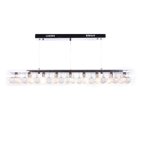 Подвесной светильник Lumina Deco Briza LDP 1057-900, 9xG9x20W, хром, прозрачный, металл, стекло, хрусталь