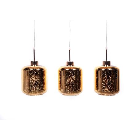 Подвесной светильник Lumina Deco Alacosmo LDP 6811-3 GD, 3xE27x40W, золото, стекло