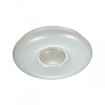 Потолочный светодиодный светильник Sonex Lazana 2074/EL, IP43, LED 72W 3000-6000K 5000lm, белый, белый с хромом, металл, пластик