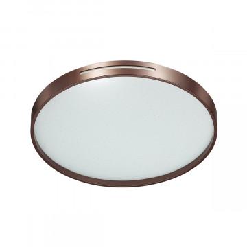Потолочный светодиодный светильник Sonex Geta Coffee 2075/DL, IP43, LED 48W 3000-6000K 3400lm, белый, коричневый, металл, пластик