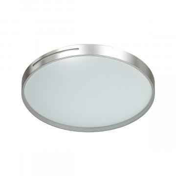 Потолочный светодиодный светильник Sonex Geta Silver 2076/DL, IP43, LED 48W 3000-6000K 3400lm, белый, серебро, металл, пластик