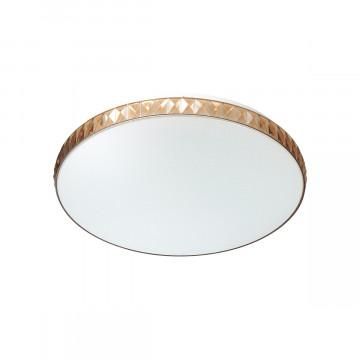 Потолочный светодиодный светильник Sonex Dina Amber 2078/DL, IP43, LED 48W 3000-6000K 3400lm, белый, янтарь, металл, пластик