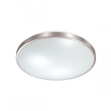 Потолочный светодиодный светильник Sonex Lota Nickel 2088/CL, IP43, LED 30W 4000K 3150lm, белый, серебро, металл, пластик