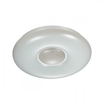 Потолочный светильник Sonex 2074/CL, IP43, хром, белый, металл, пластик