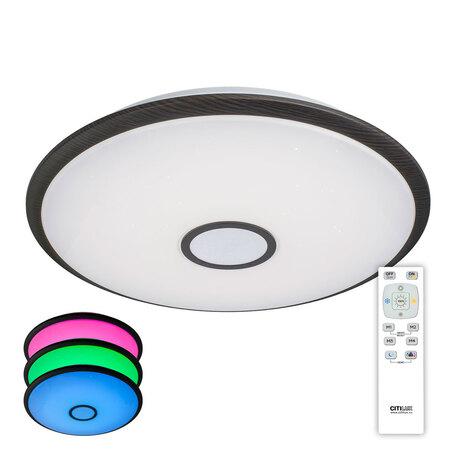 Потолочный светодиодный светильник Citilux Старлайт CL703105RGB, IP44, LED 100W 3000-4500K + RGB 6500lm, белый, венге, металл, металл с пластиком