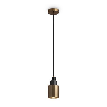 Светильник Freya Moke FR4006PL-01BS, 1xE14x40W, темно-серый с латунью, латунь, металл