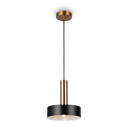 Светильник Freya Izza FR4008PL-01BBS, 1xE27x40W, латунь, черный, металл