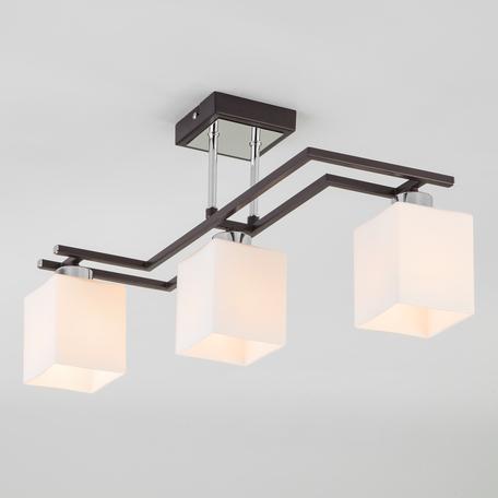 Потолочный светильник Eurosvet Devis 70018/3 хром/венге, 3xE14x60W, венге, белый, металл, стекло