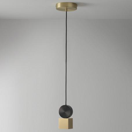 Подвесной светодиодный светильник LUSTRAM Calée 8 CALE PENDANT V1 8, LED, матовое золото, черный, металл