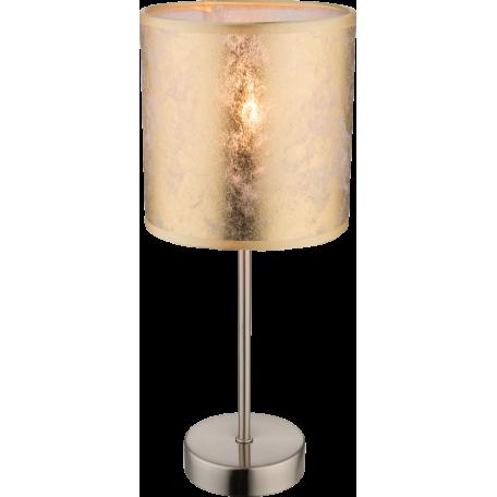 Настольная лампа Globo Amy I 15187T, 1xE14x40W, никель, матовое золото, металл, текстиль с пластиком
