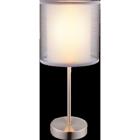 Настольная лампа Globo Theo 15190T, 1xE14x40W, металл, текстиль
