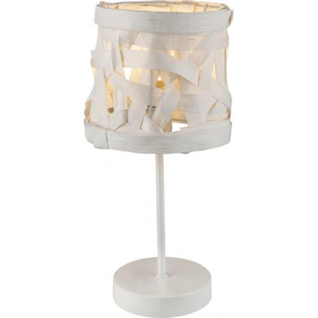 Настольная лампа Globo Salvador 15223T, 1xE14x40W, белый, металл, бумага/картон