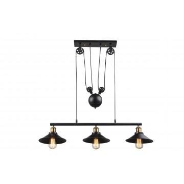 Подвесной светильник Globo Lenius 15053-3, 3xE27x60W, металл