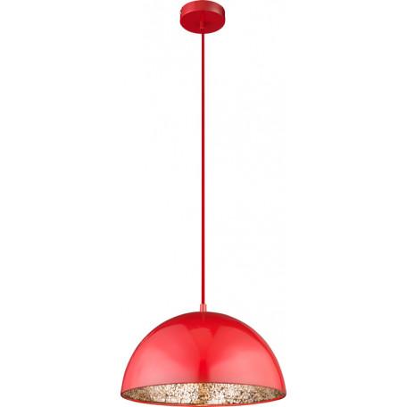 Подвесной светильник Globo Okko 15166R, 1xE27x60W, красный, красный с золотом, металл