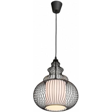 Подвесной светильник Globo Damian 15235, 1xE27x40W, черный, металл, текстиль