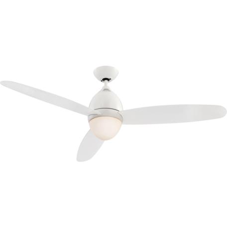 Потолочный светильник-вентилятор с пультом ДУ Globo Premier 0300, 2xE27x40W, металл с пластиком, стекло