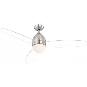 Потолочный светильник-вентилятор с пультом ДУ Globo Premier 0302, 2xE27x40W, металл, пластик, стекло