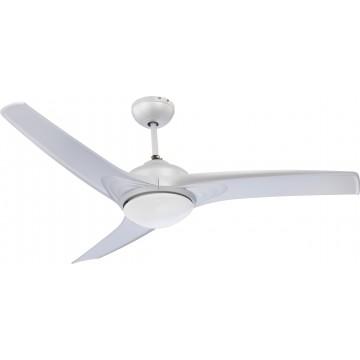 Потолочный светильник-вентилятор с пультом ДУ Globo Primo 0305, 2xE14x40W, металл, пластик, стекло