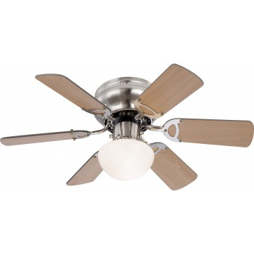 Потолочный светильник-вентилятор Globo Ugo 0307, 1xE27x60W, дерево, металл, стекло