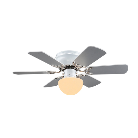 Потолочный светильник-вентилятор Globo Formentera 03070, 1xE27x60W, дерево, металл, стекло