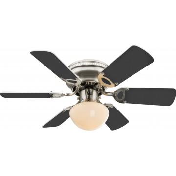Потолочный светильник-вентилятор Globo Ugo 0307W, 1xE27x60W, дерево, металл, стекло