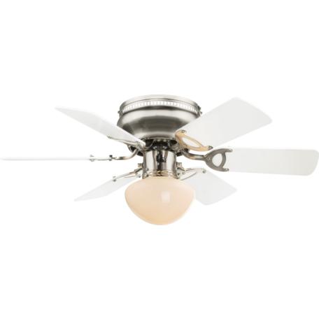 Потолочный светильник-вентилятор Globo Ugo 0307W, 1xE27x60W, металл, дерево, стекло