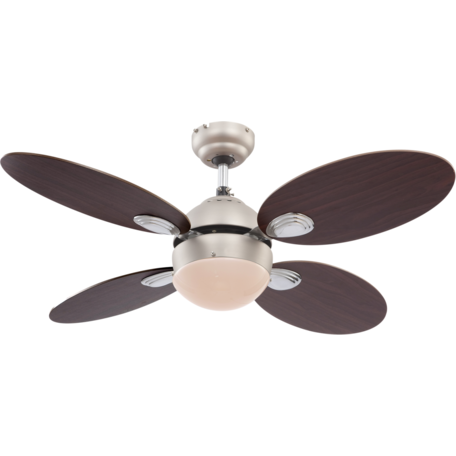 Потолочный светильник-вентилятор Globo Wade 0318, 1xE14x60W, металл, дерево, стекло