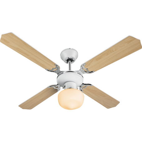 Потолочный светильник-вентилятор Globo Sargantana 03300, 1xE27x60W, металл, дерево, стекло