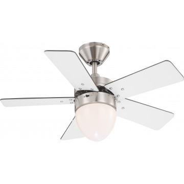 Потолочный светильник-вентилятор Globo Marva 0332, 1xE27x60W, дерево, металл, стекло