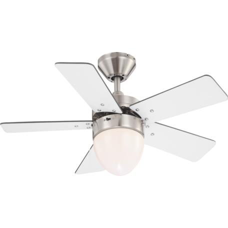 Потолочный светильник-вентилятор Globo Marva 0332, 1xE27x60W, металл, дерево, стекло