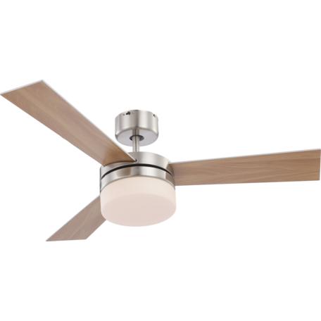 Потолочный светильник-вентилятор с пультом ДУ Globo Alana 0333, 2xE14x40W, металл, дерево, стекло