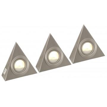Светодиодный светильник для рабочей подсветки Globo Down Lights 1205-3LED 3000K (теплый), металл