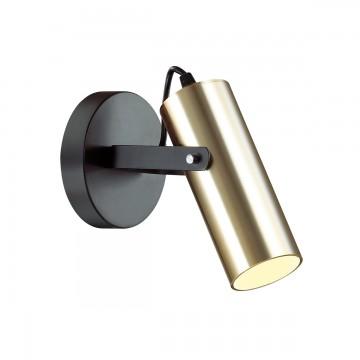 Потолочный светильник с регулировкой направления света Lumion Claire 3714/1W, 1xGU10x5W, черный, матовое золото, металл