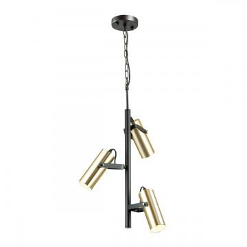 Подвесная люстра с регулировкой направления света Lumion Claire 3714/3A, 3xGU10x5W, черный, матовое золото, металл