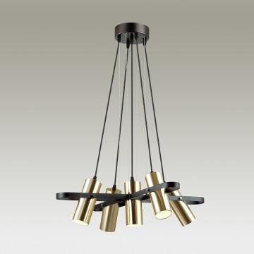 Подвесная люстра с регулировкой направления света Lumion Claire 3714/5A, 5xGU10x5W, черный, матовое золото, металл - миниатюра 3
