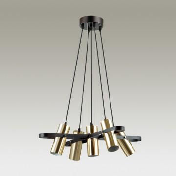 Подвесная люстра с регулировкой направления света Lumion Claire 3714/5A, 5xGU10x5W, черный, матовое золото, металл - миниатюра 4