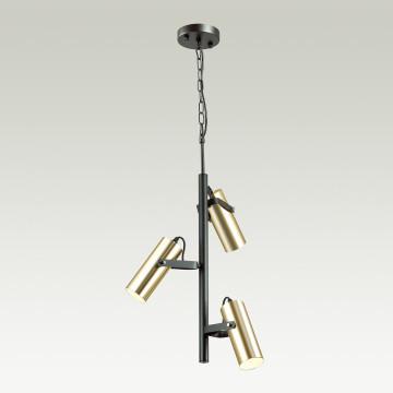 Подвесная люстра с регулировкой направления света Lumion Claire 3714/3A, 3xGU10x5W, черный, матовое золото, металл - миниатюра 3