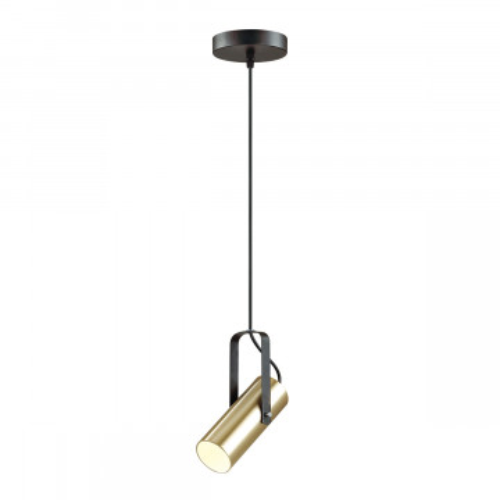 Подвесной светильник с регулировкой направления света Lumion Claire 3714/1, 1xGU10x5W, черный, матовое золото, металл