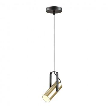 Подвесной светильник с регулировкой направления света Lumion Claire 3714/1, 1xGU10x5W, черный, золото, металл