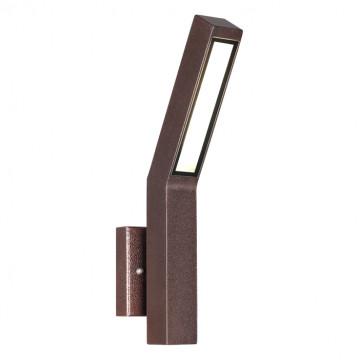 Настенный светодиодный светильник Novotech Cornu 358056, IP65, LED 8W 3000K 602lm, коричневый, металл, стекло