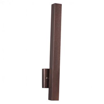 Настенный светодиодный светильник Novotech Street Cornu 358057, IP65, LED 8W 3000K 596lm, коричневый, металл, стекло