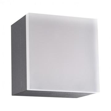 Настенный светодиодный светильник Novotech Kaimas 358085, IP54, LED 12W 3000K 800lm, серый, металл, пластик